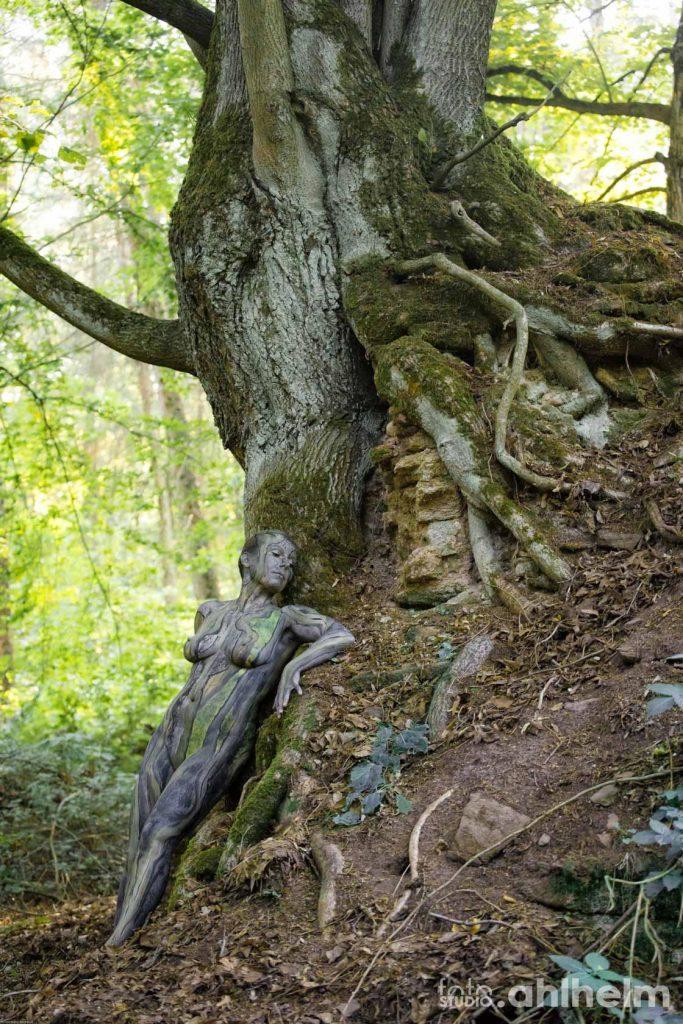 Fotostudio Ahlhelm Bodypainting Wald 3