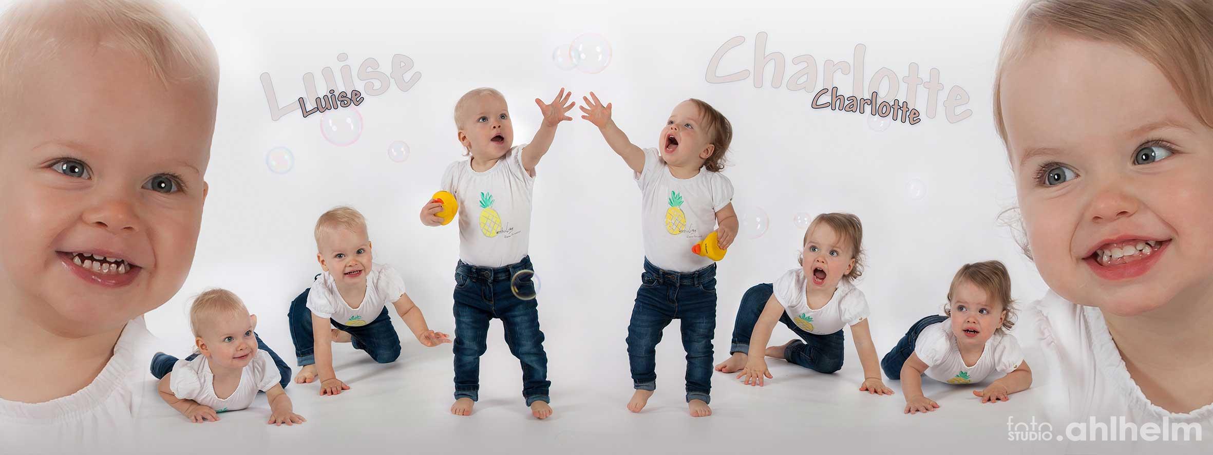 Fotostudio Ahlhelm Kinder Collage Zwillinge
