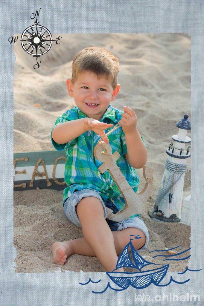 Fotostudio Ahlhelm Kindergarten Sommer Strand maritim