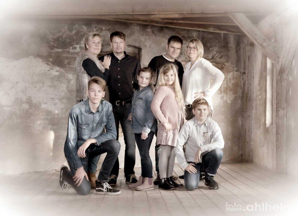 Fotostudio Ahlhelm Größe Familie Lager