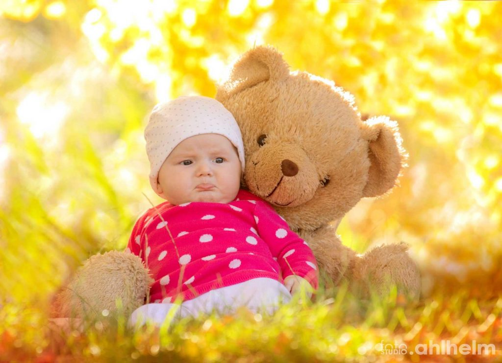 Fotostudio Ahlhelm outdoor Baby Teddy